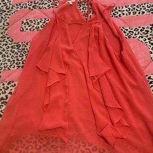 Hot pink business blouse